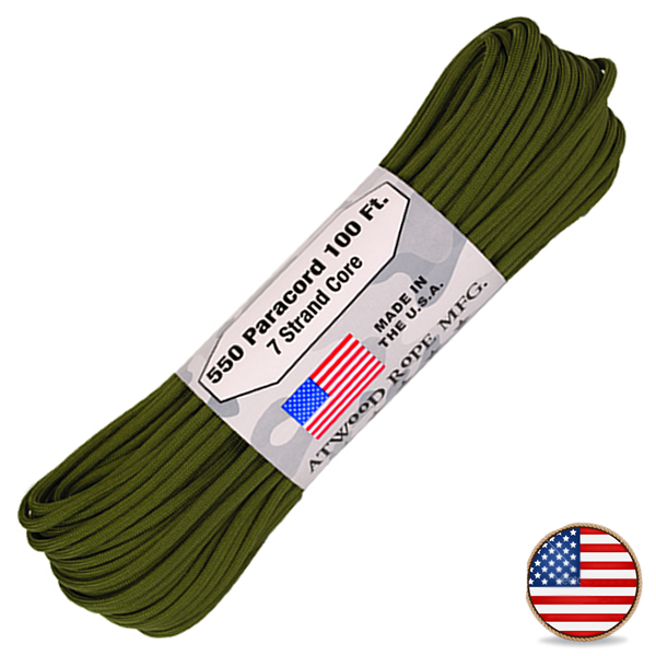 Atwood Paracord 550lb Olive Drab