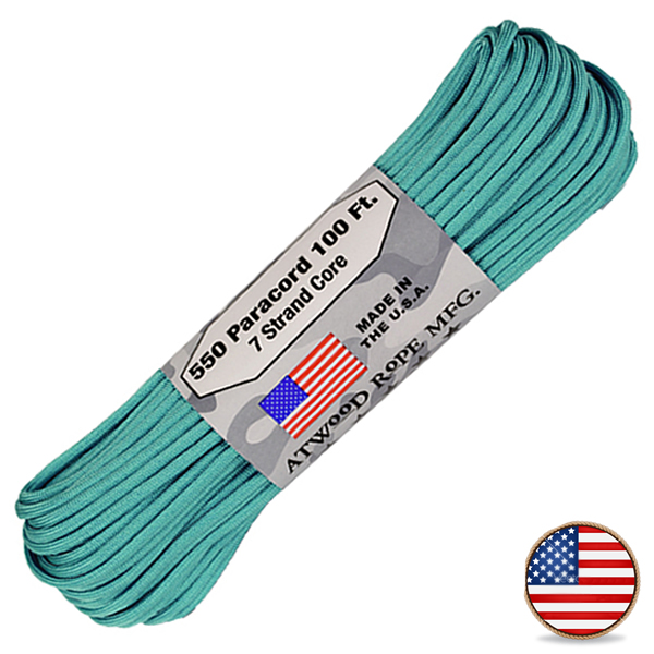Atwood Paracord 550lb Carolina Blue