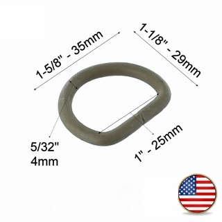 ITW Nexus Welded D Ring 25mm Coyote Brown