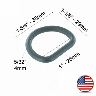 ITW Nexus Welded D Ring 25mm Foliage Green