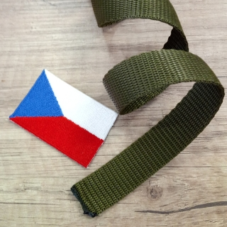 Popruh 20 mm polypropylen Olive Drab