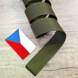 Popruh 25 mm polypropylen Olive Drab