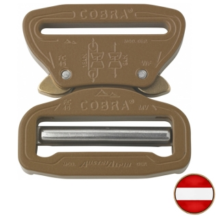 Opasková spona AustriAlpin Cobra 45mm Standard Adjust XL Coyote Brown