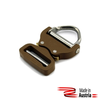 Opasková spona AustriAlpin Cobra 45mm D-Ring Adjust Coyote Brown