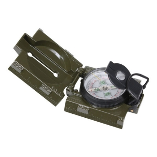 Kompas Rothco Military Tactical s LED diodou Olive Drab