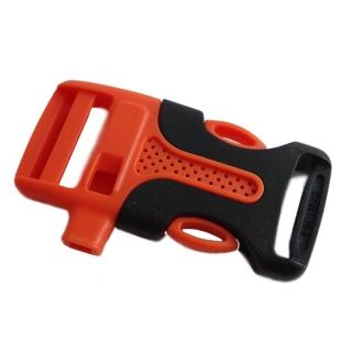 Plastová spona prohnutá s píšťalkou 20 mm Černá oranžová b38d98fc42