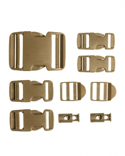 Mil-tec BUCKLE SET T9 Coyote Brown